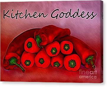 Kitchen Goddess Canvas Print by Clare Bevan
