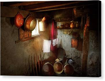 Canvas Print featuring the photograph Kitchen - Homesteading Life by Mike Savad
