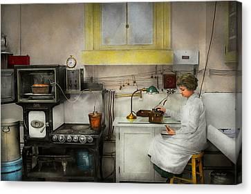 Kitchen - How I Bake Bread 1923 Canvas Print