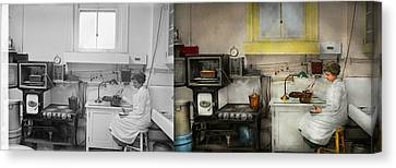 Kitchen - How I Bake Bread 1923 - Side By Side Canvas Print