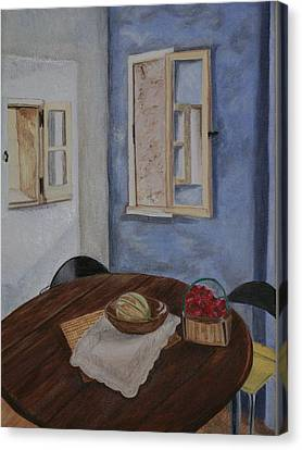 Kitchen In Les Baux Canvas Print by Cynthia Ablicki