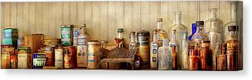 Canvas Print - Kitchen - Ingredients - Kitchen Bottles by Mike Savad
