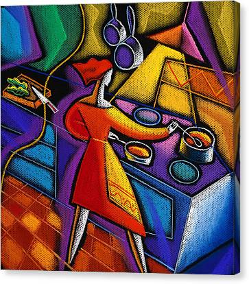 Kitchen  Canvas Print by Leon Zernitsky