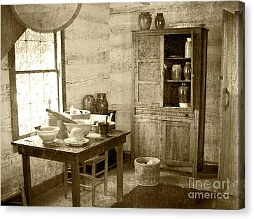 Canvas Print featuring the photograph Kitchen by Pete Hellmann