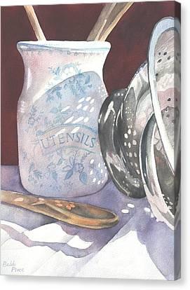Kitchen Reflections Canvas Print by Bobbi Price