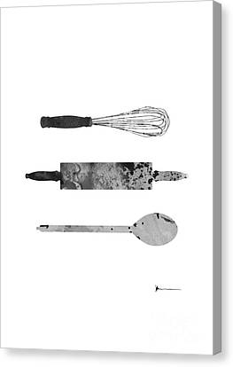 Kitchen Utensils Set Kitchen Decor Canvas Print by Joanna Szmerdt
