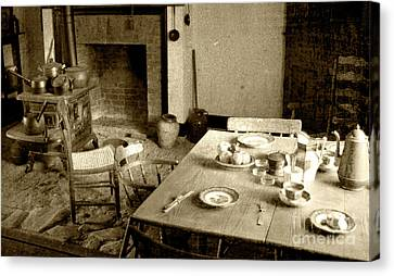 Canvas Print featuring the photograph Kitchen Work Area by Pete Hellmann