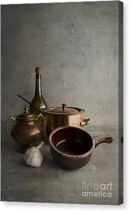 Ceramic Bowl Canvas Print - Kitchenware by Elena Nosyreva