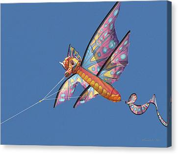Canvas Print featuring the photograph Kite 1 by Maciek Froncisz