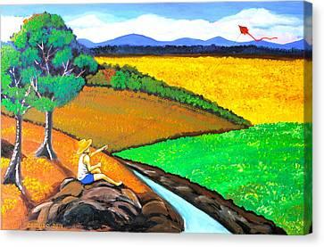 Kite Canvas Print by Cyril Maza
