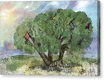 Kite Eating Tree Canvas Print by Annette Berglund