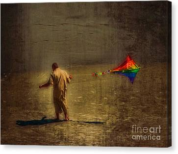 Kite Flying As Therapy Canvas Print by Jeff Breiman