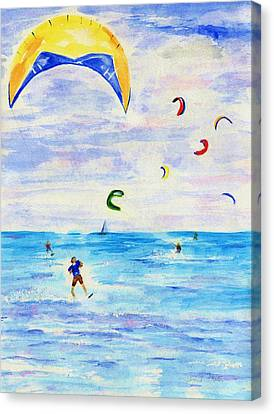 Kite Surfer Canvas Print by Jamie Frier