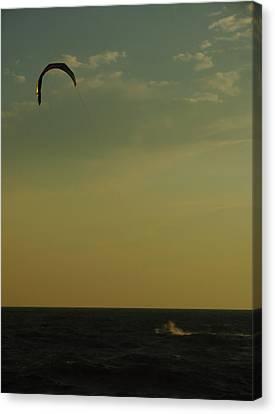 Kite Surfer Canvas Print by Juergen Roth