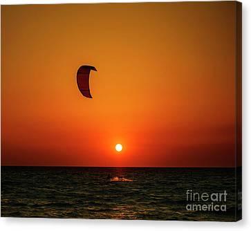 Kite Surfing Canvas Print by Jelena Jovanovic