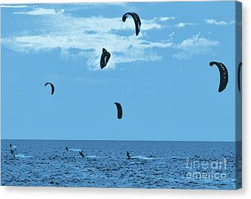 Kiteboarding On The Outer Banks Fx Canvas Print