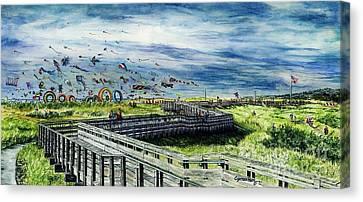 Kites Galore Canvas Print