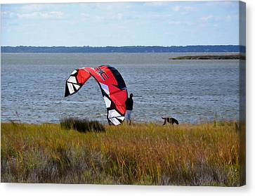 Kitesurfers 3 Canvas Print by Lanjee Chee