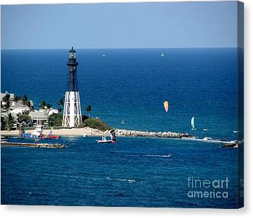 Kitesurfing And More At Pompano Canvas Print