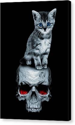 Kittenskull Orig Canvas Print