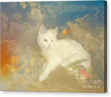 Kitty Art Precious By Sherriofpalmsprings Canvas Print