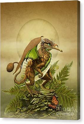 Canvas Print featuring the digital art Kiwi Dragon by Stanley Morrison