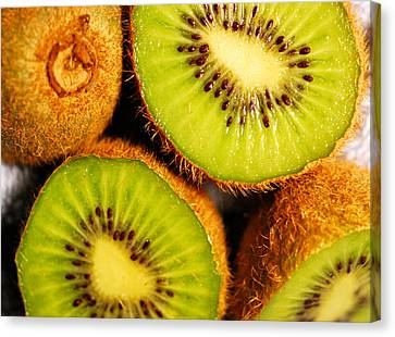 Kiwi Fruit Canvas Print by Nancy Mueller