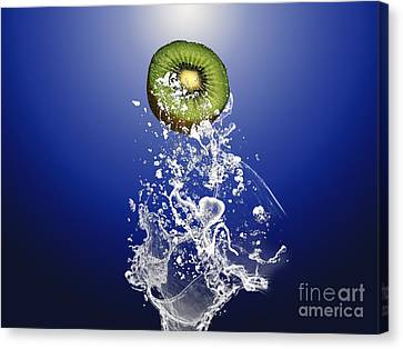 Produce Canvas Print - Kiwi Splash by Marvin Blaine