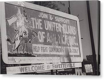Kkk- 1975 Canvas Print by Signs Of The Times Collection