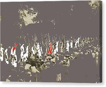 Kkk March Unknown Location Circa 1925 Color Added 2016 Canvas Print