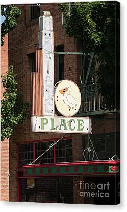 Fire Escape Canvas Print - Klamath Falls Oregon Antonios Place Dsc5109 by Wingsdomain Art and Photography