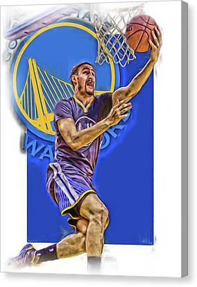 Klay Thompson Golden State Warriors Oil Art Canvas Print