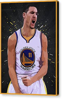 Klay Thompson Canvas Print by Semih Yurdabak