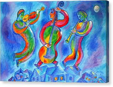 Klezmer On The Roof Canvas Print