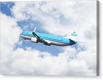 Klm Canvas Print - Klm Boeing 737-8k2 by J Biggadike