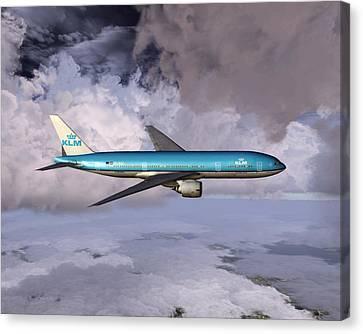 Klm Boeing 777 Canvas Print
