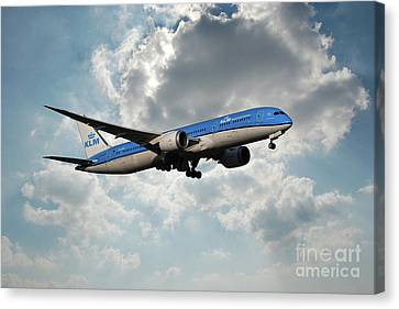 Klm Canvas Print - Klm Boeing 787-9 Dreamliner by J Biggadike