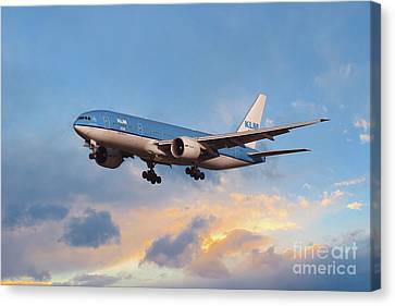 Klm Canvas Print - Klm Royal Dutch Airlines Boeing 777-206 by J Biggadike