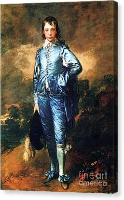 Knabe In Blau Canvas Print by Pg Reproductions