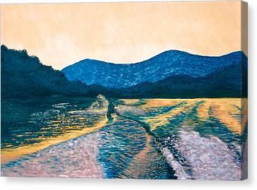 Knee Boarding Canvas Print by Jesska Hoff