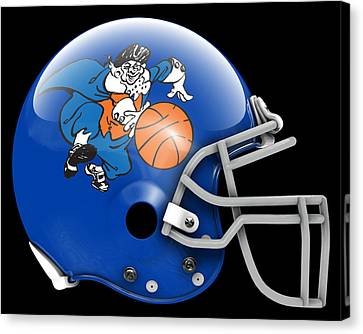 Knicks What If Its Football 2 Canvas Print by Joe Hamilton