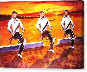 Knife Dancers Canvas Print by Buster Dight