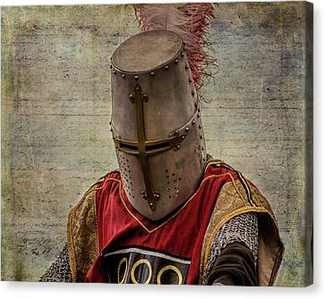 Canvas Print featuring the photograph Knight In Armor by Mary Hone