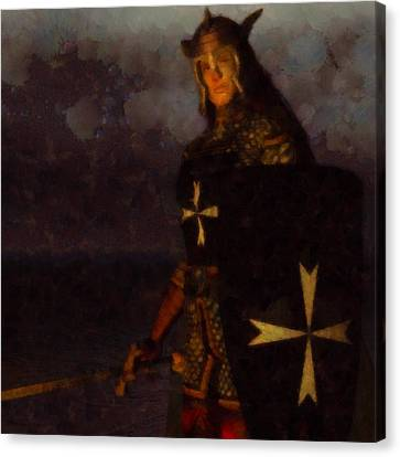 Knight King Canvas Print by Esoterica Art Agency