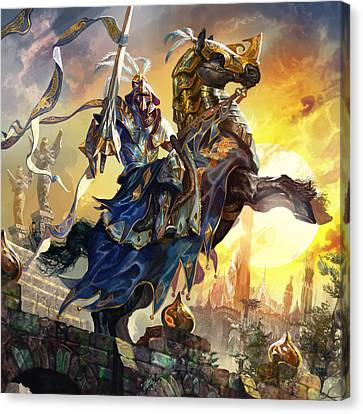 Knight Of New Benalia Canvas Print by Ryan Barger