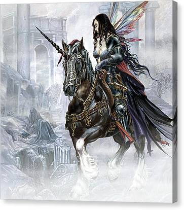 Knight Of The Rose Canvas Print