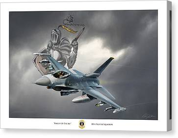 Knight Of The Sky Canvas Print by Peter Chilelli