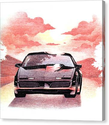 Canvas Print featuring the digital art Knight Rider by Gina Dsgn