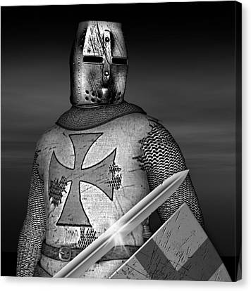 Knight Templar Canvas Print by David Griffith