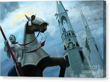 Knight Time Canvas Print by Denise M Cassano